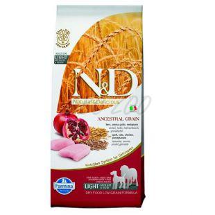 Farmina N&D dog LG Light MEDIUM & MAXI Chicken & Pomegranate 12 kg