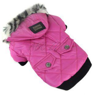Bunda pre psa s kožušinkou - ružová, XL
