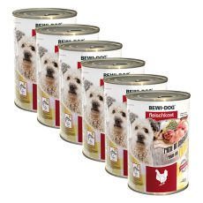 New BEWI DOG konzerva – Chicken - 6 x 400g, 5+1 GRATIS