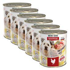 New BEWI DOG konzerva – Chicken - 6 x 800g, 5+1 GRATIS