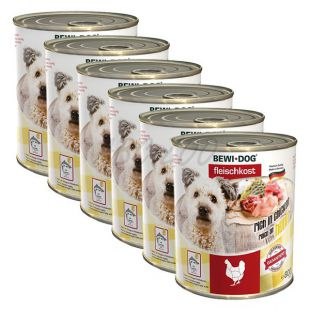 New BEWI DOG konzerva – Chicken - 6 x 800g, 5+1 GRATIS