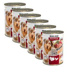 New BEWI DOG konzerva – Hydina - 6 x 400g, 5+1 GRATIS