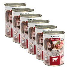 New BEWI DOG konzerva – Teľacie - 6 x 400g, 5+1 GRATIS