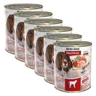 New BEWI DOG konzerva – Teľacie - 6 x 800g, 5+1 GRATIS