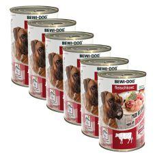 New BEWI DOG konzerva – Hovädzie držky - 6 x 400g, 5+1 GRATIS