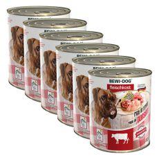 New BEWI DOG konzerva – Hovädzie držky - 6 x 800g, 5+1 GRATIS