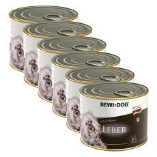 Bewi dog Paté - Pečeň - 6 x 200g, 5+1 GRATIS
