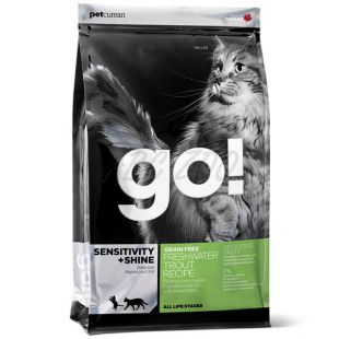 Petcurean GO! CAT Sensitive Shine Grain Free - 7,25kg