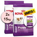 ROYAL CANIN GIANT PUPPY 2x15 + 8kg GRATIS