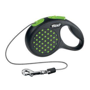 Flexi vodítko XS do 8kg, 3m lanko - zelené bodky