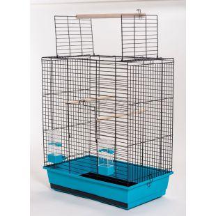 Klietka pre papagáje ARA čierna - 54 x 34 x 68,5 cm