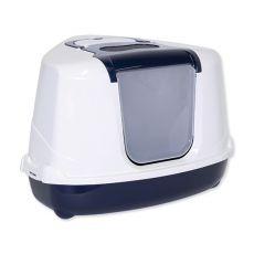 Toaleta pre mačky MC JUMBO rohová, modrá - 59x45x45cm