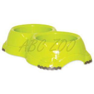Dvojmiska pre psov Dog Fantasy - zelená, protišmyková, 2 x 645 ml
