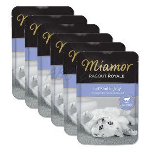 MIAMOR Ragout Kitten hovädzia kapsička 6 x 100 g