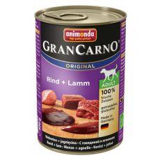 Konzerva GranCarno Original Adult hovädzie mäso a jahňa - 400g
