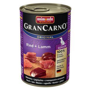 Konzerva GranCarno Original Senior hovädzie mäso a jahňa - 400g