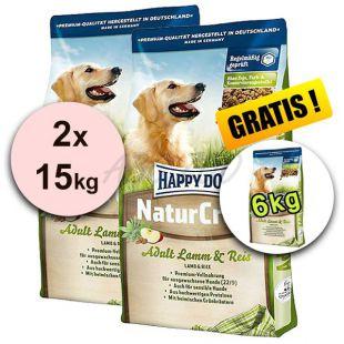 Happy Dog NaturCroq LAMM a REIS 2 x 15 kg + 6kg GRATIS