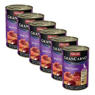 Konzerva GranCarno Original Senior hovädzie mäso a jahňa - 6 x 400g