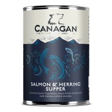 Konzerva CANAGAN Salmon & Herring Supper, 400g