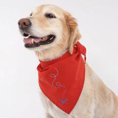 Antiparazitná a repelentná šatka pre psov - červená XL