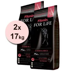 Fitmin FOR LIFE Adult Lamb & Rice 2 x 17kg + DOPRAVA ZDARMA
