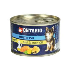 Konzerva ONTARIO Multi Fish a lososový olej – 200g