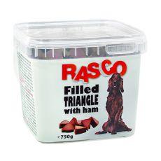 Pamlsky RASCO - plnený trojuholník so šunkou, 750g