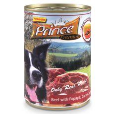 Konzerva PRINCE Premium – hovädzie s papájou, mrkvou a špenátom 400g