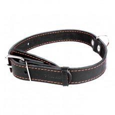 COLLAR kožený obojok pre psa - 38 - 50cm, 25mm - čierny