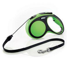 Flexi NEW COMFORT vodítko M do 20kg, 5m lanko - zelené