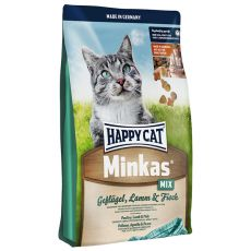 Happy Cat Minkas MIX - hydina, jahňacina a ryba - 10kg