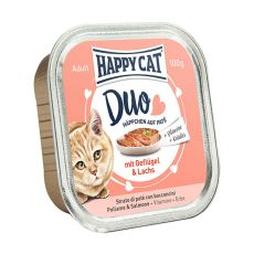Happy Cat DUO MENU - hydina a losos, 100g