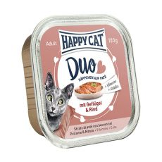 Happy Cat DUO MENU - hydina a hovädzie, 100g