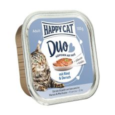 Happy Cat DUO MENU - hovädzie a treska, 100g