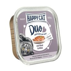Happy Cat DUO MENU - hovädzie a zverina, 100g
