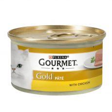 Konzerva Gourmet GOLD - paštéta s kuracím mäsom, 85g
