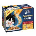 Felix Sensations Crunchy - mäsový výber s posýpkou 10 x 100g