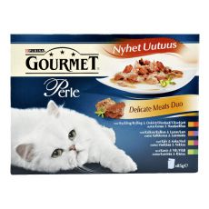 Kapsičky GOURMET PERLE - delikatné mäsové duo, 4 x 85g
