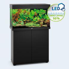 Set JUWEL akvárium RIO LED 125 čierny + skrinka