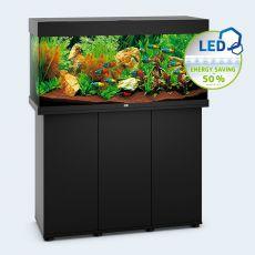 Set JUWEL akvárium RIO LED 180 čierny + skrinka