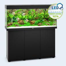 Set JUWEL akvárium RIO LED 240 čierny + skrinka