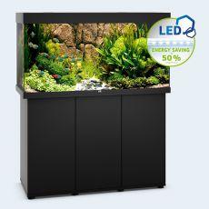 Set JUWEL akvárium RIO LED 350 čierny + skrinka