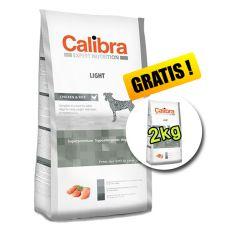 CALIBRA Dog EN Light 12kg + 2kg ZDARMA