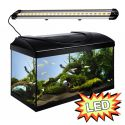 Akvárium STARTUP 60 LED Extra 2x7,2W - ROVNÉ - ČIERNE