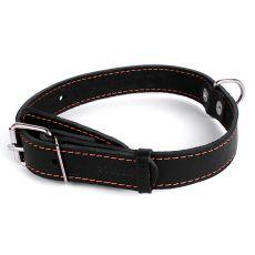 Kožený obojok pre psa - 48- 63cm, 35mm - čierny