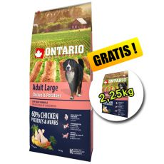 ONTARIO Adult Large chicken & potatoes 12kg + 2,25kg GRATIS