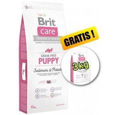 Brit Care Grain-free Puppy Salmon & Potato 12kg + 3kg GRATIS