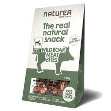 Naturea SNACK - diviačie mäsové kúsky, 80g