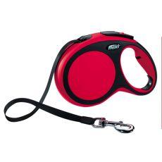 Flexi NEW COMFORT vodítko L do 50kg, 8m popruh - červené