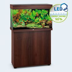 Set JUWEL akvárium RIO LED 125 tmavo hnedý + skrinka
